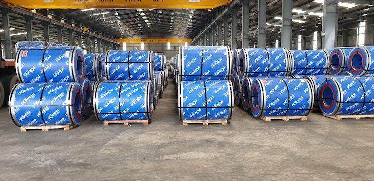 Tôn Pomina xuất khẩu lô hàng đầu tiên ra thị trường Quốc tế